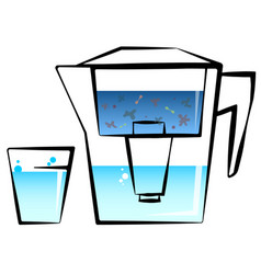 water filter and glass vector image