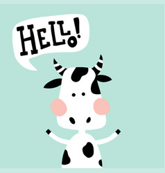 waving cow vector image