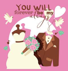 wedding concept you will vector image