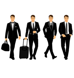 Wedding men s suit and tuxedo vector