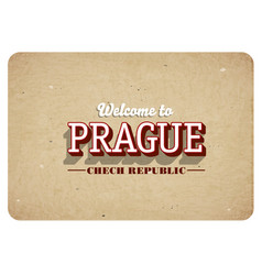 Welcome to prague vector