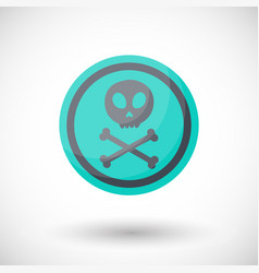 aware sign flat icon vector image vector image