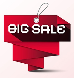 Big Sale Red Paper Label vector image