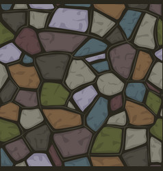 cartoon colored stone seamless background texture vector image