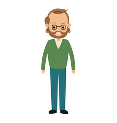 cartoon man male parent family adult member vector image vector image