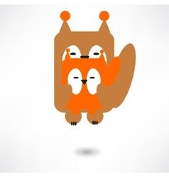 Cute squirrel cartoon vector image