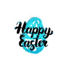 happy easter handwritten greeting vector image vector image