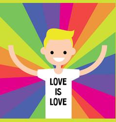 lgbtq rainbow lgbt rights conceptual flat vector image