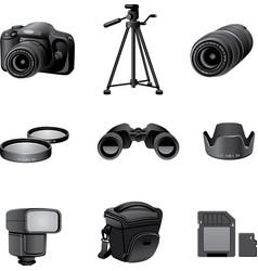Photo accessories gray vector