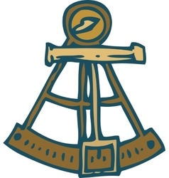 Vintage marine sextant vector
