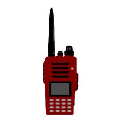 Walkie talkie or radio communication vector image vector image