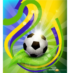 background on 2014 soccer brasil vector image