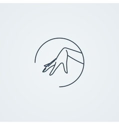 Icon with a graceful female hand vector
