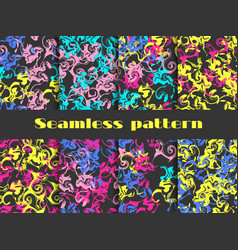 marble seamless pattern set marbled paper vector image