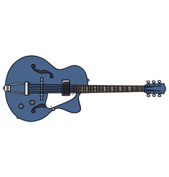 Old electric guitar vector image vector image