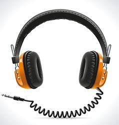 Old Headphones vector image