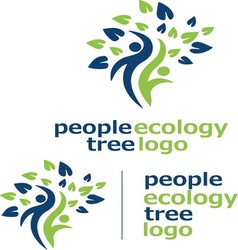 people ecology tree logo 3 vector image