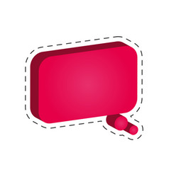 speech bubble dialog cut line vector image vector image
