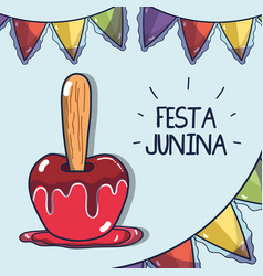 sweet apple related with the festa junina vector image vector image