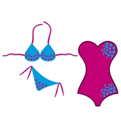 swimsuit and bikini vector image vector image