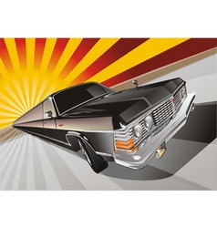 very long vintage limo vector image vector image