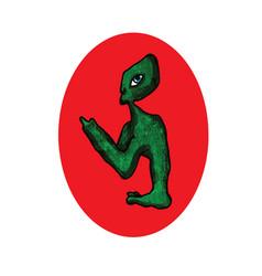 alien space visitor cartoon image vector image
