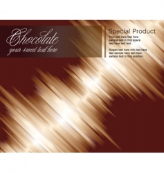 chocolate striped background vector image vector image
