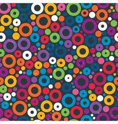Colorful seamless pattern with circles vector image vector image