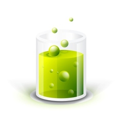 Glass vessel with green fluid vector image