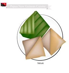 Saksak papua new guinean food vector
