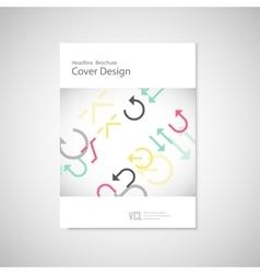 arrows set on a white brochure vector image vector image
