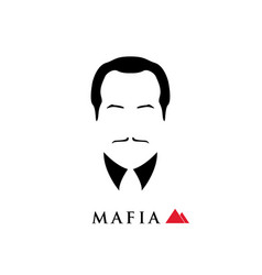 boss of the italian mafia vector image