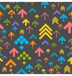Colorful arrow background on dark vector