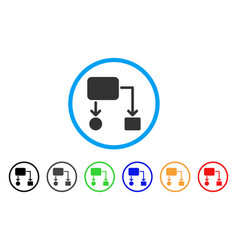 flow chart rounded icon vector image