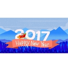 Poster Design card Merry Christmas and a Happy New vector image