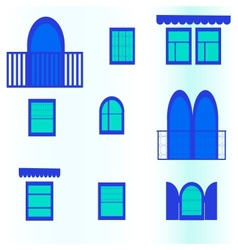 seamless background with blue windows vector image