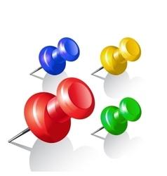 Set of push pins Thumbtack vector image vector image