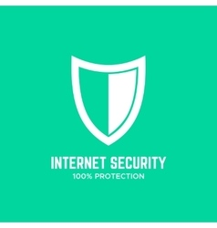 Shield logo design template concept Firewall icon vector image vector image