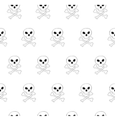 Skull and bones seamless pattern vector image vector image