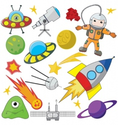 space exploration vector image vector image