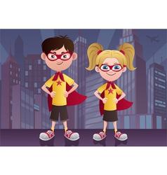 Super Kids City vector image vector image