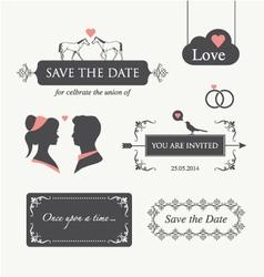 wedding invitation design element editable vector image vector image