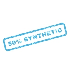50 Percent Synthetic Text Rubber Stamp vector