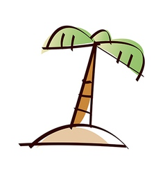 A palm Tree in the island vector