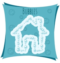 Abstract element House made of bubbles vector