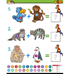 addition educational activity vector image