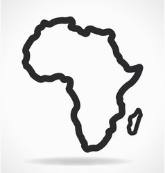 Africa continent shape outline simplified vector