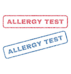 Allergy test textile stamps vector