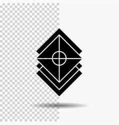Arrange design layers stack layer glyph icon on vector