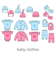Baby fashion clothing fashion shirt design wear vector